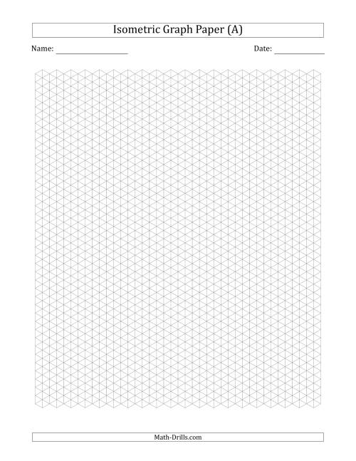 The 0.5 cm Isometric Graph Paper (Gray) Math Worksheet