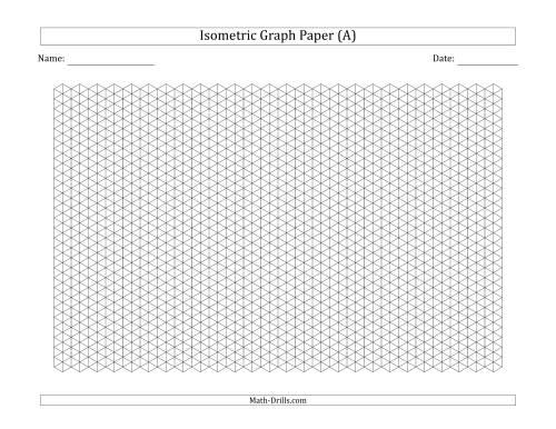0 5 cm isometric graph paper  landscape   black