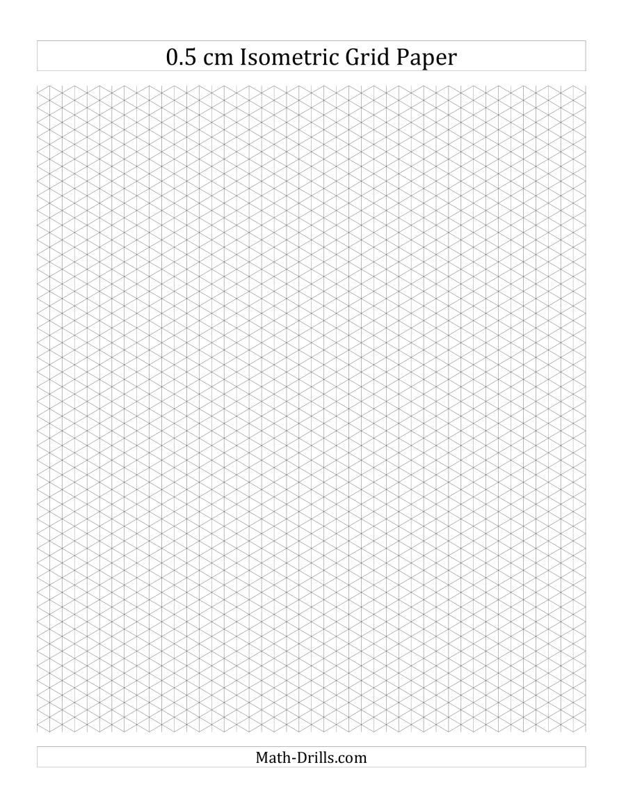 0.5 cm Isometric Grid Paper (Portrait) (A)
