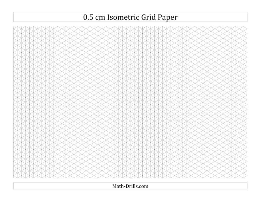 Cm Isometric Grid Paper Landscape A