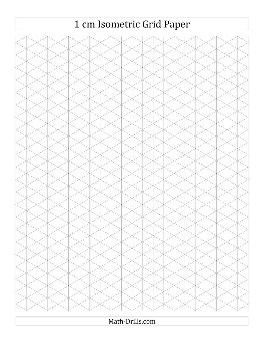 1 cm Isometric Grid Paper (Portrait) (A) Graph Paper