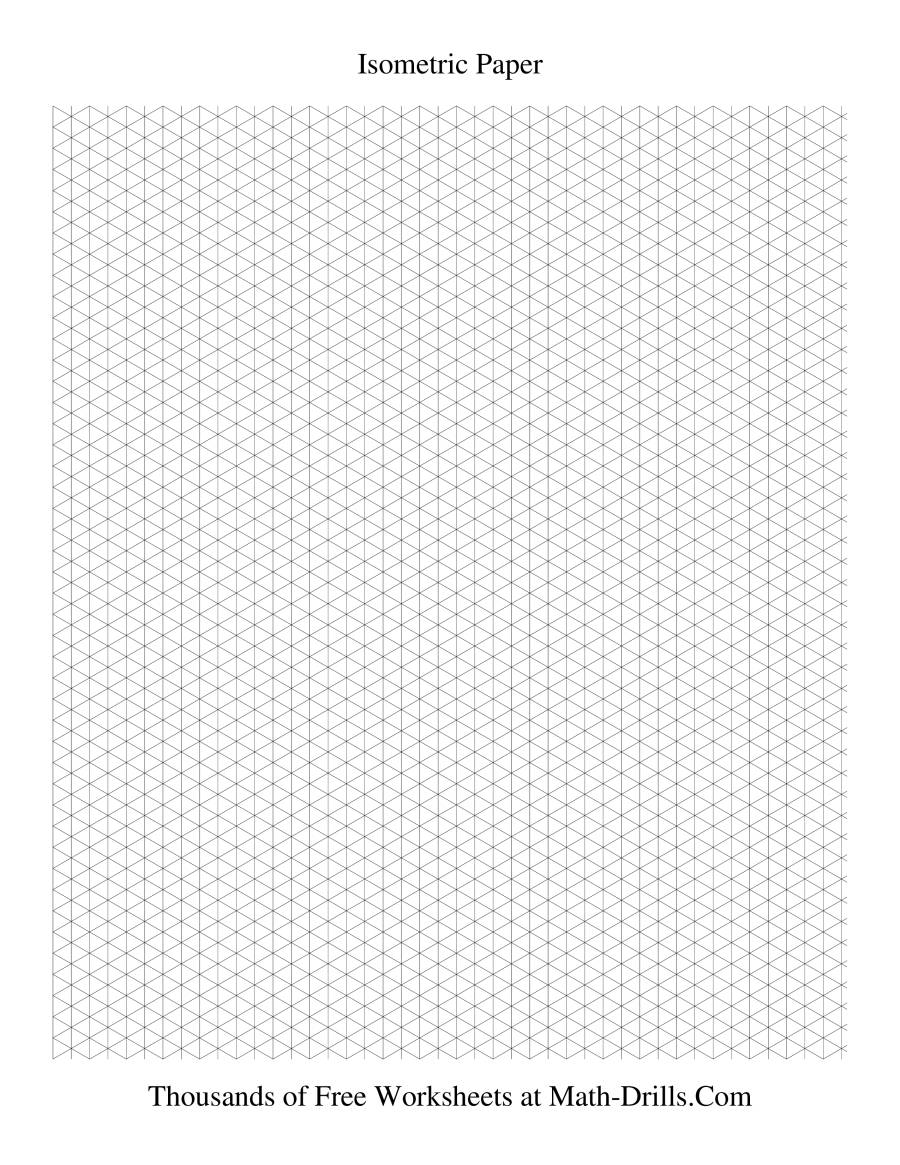 Isometric grid -- Small Portrait