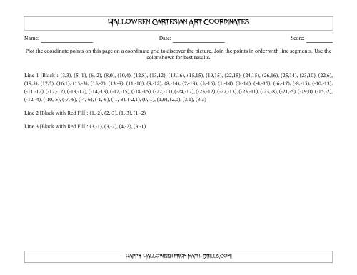The Cartesian Art Halloween Bat Math Worksheet Page 2