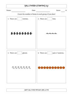 Counting Halloween Pictures in Linear Patterns (A)