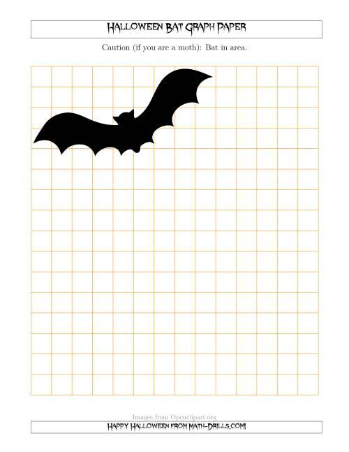 Halloween Bat 12 Inch Graph Paper