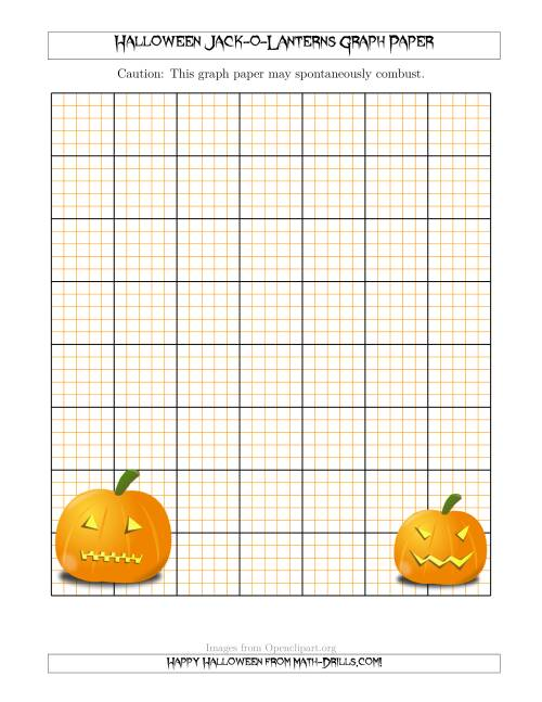 halloween jack o lanterns graph paper. Black Bedroom Furniture Sets. Home Design Ideas