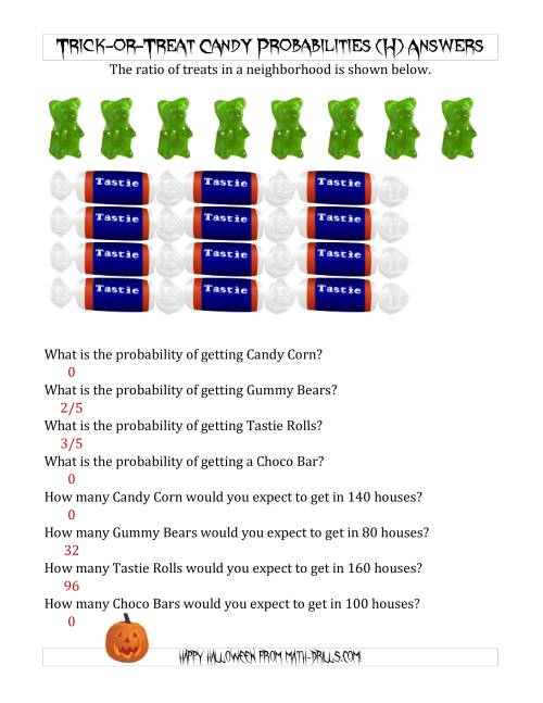 The Trick-or-Treat Candy Probabilities and Predictions (H) Math Worksheet Page 2