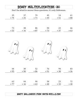 Scary Multiplication (2-Digit by 2-Digit) (A)