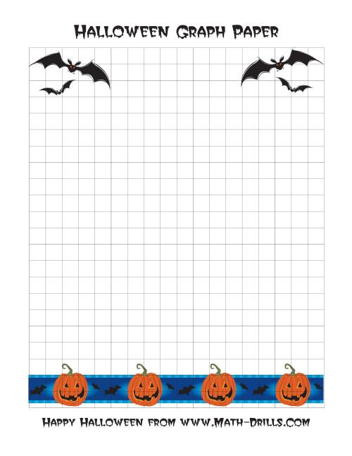 The Halloween Graph Paper (A) Math Worksheet
