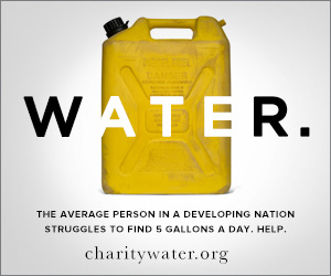 Support charity: water