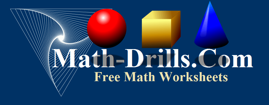 Geometry worksheets including angle, coordinate, transformational and three-dimensional geometry worksheets.