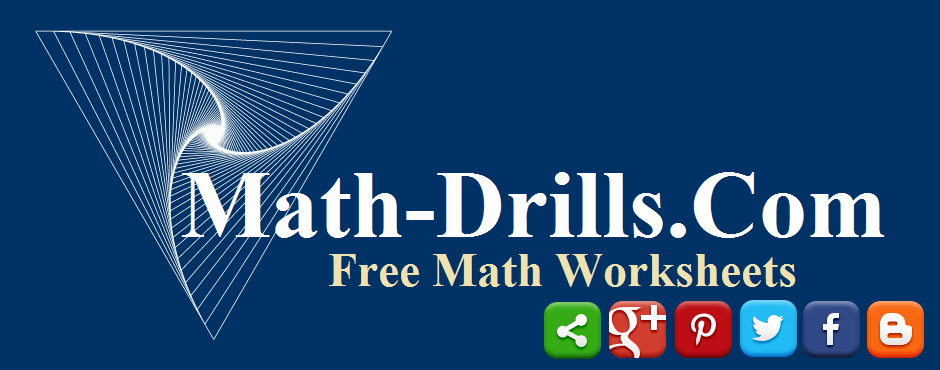 Sign-up for our newsletter or follow Math-Drills.com on various social media websites.