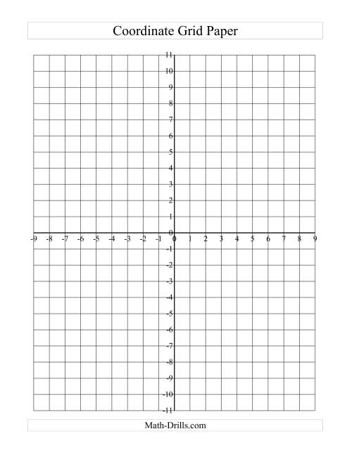 The Coordinate Grid Paper (Large Grid) (A) Math Worksheet