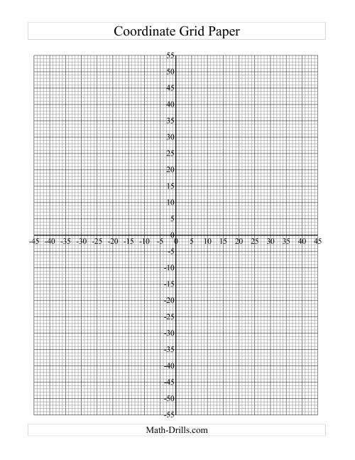 The Coordinate Grid Paper (Fine Grid) (C) Math Worksheet