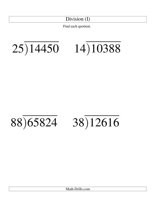 Long Division - Two-Digit Divisor and a Three-Digit ...