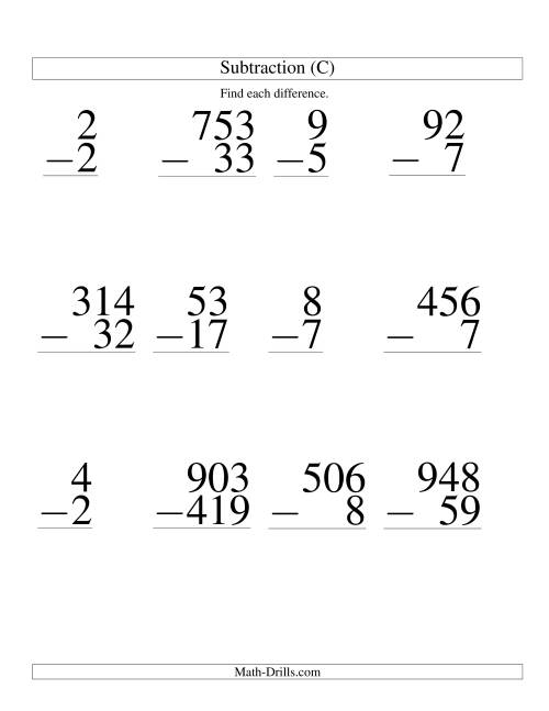 Touch Math Money Worksheets Large print math worksheet .