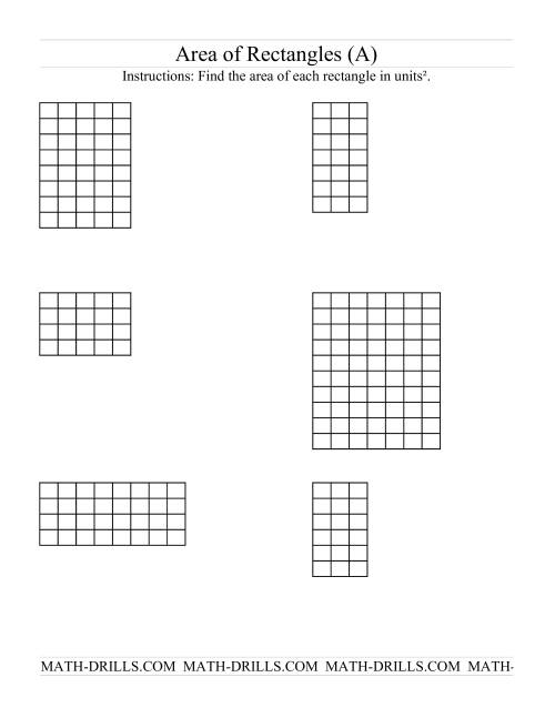 Find the Area of a Rectangle: Easy | Free printables, Math and 4th ...