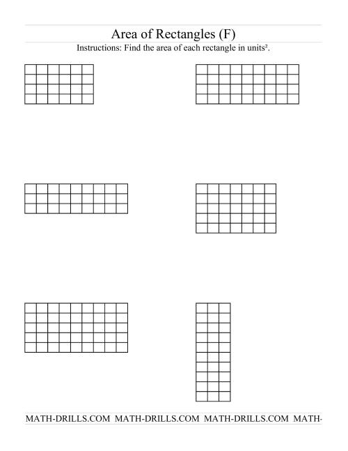 Area Of Rectangles Grid Form F