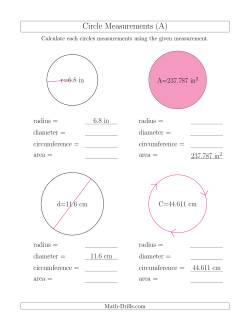 Calculate All Circle Measurements