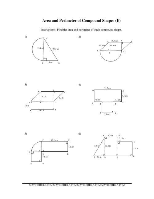 Area and Perimeter of Compound Shapes (E)