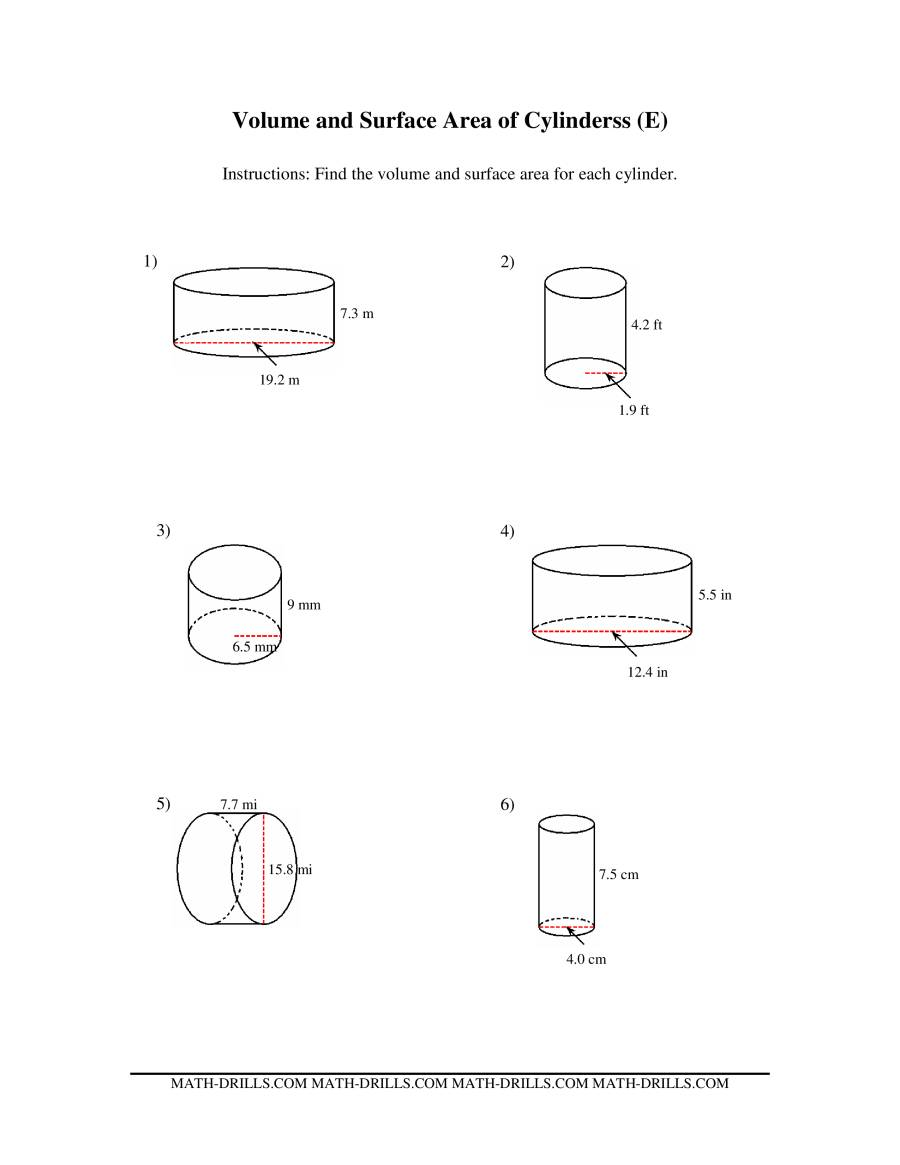volume and surface area of cylinders ee measurement. Black Bedroom Furniture Sets. Home Design Ideas