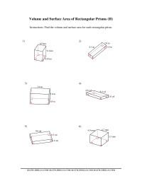 volume and surface area of rectangular prisms h measurement worksheet. Black Bedroom Furniture Sets. Home Design Ideas
