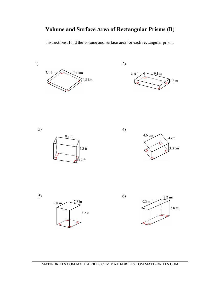 Uncategorized 5th Grade Math Volume Worksheets surface area of prisms worksheet kuta deployday volume rectangular prism worksheet