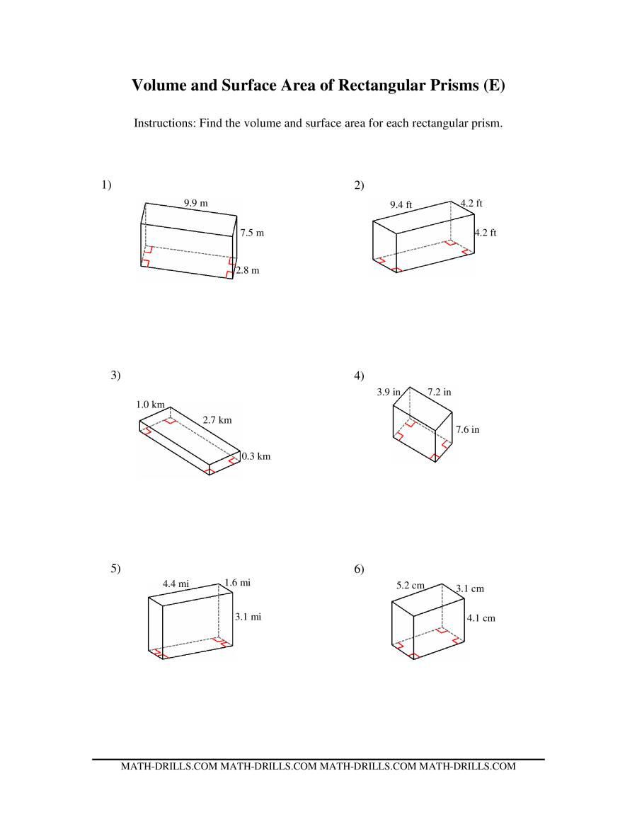 Surface Area Of Rectangular Prism Worksheet Bhbrinfo – Surface Area Rectangular Prism Worksheet
