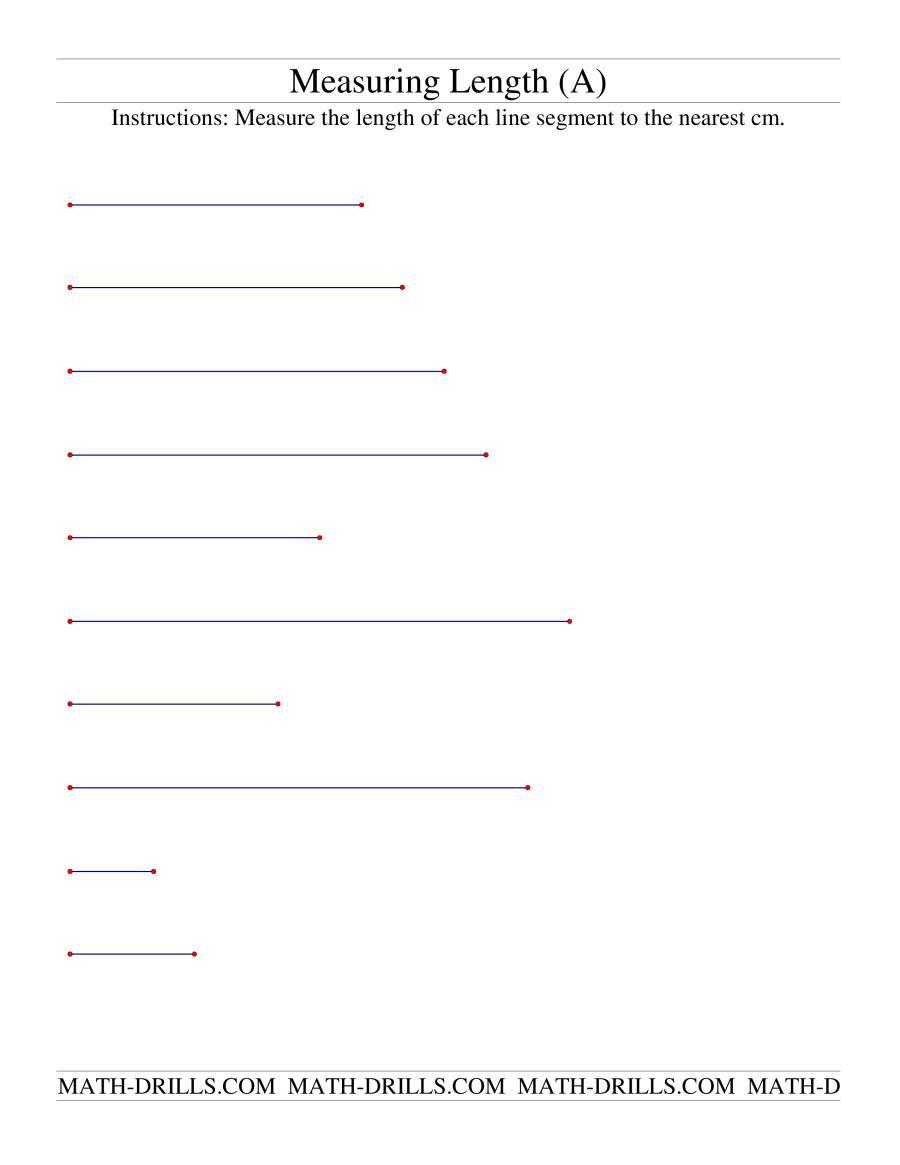 Measuring Length Measuring length of line