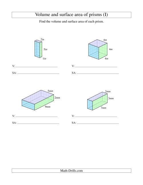 surface area rectangular prism worksheet – Surface Area of Rectangular Prism Worksheet