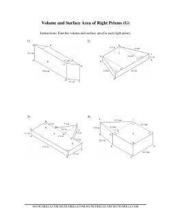 volume and surface area of mixed right prisms g measurement worksheet. Black Bedroom Furniture Sets. Home Design Ideas