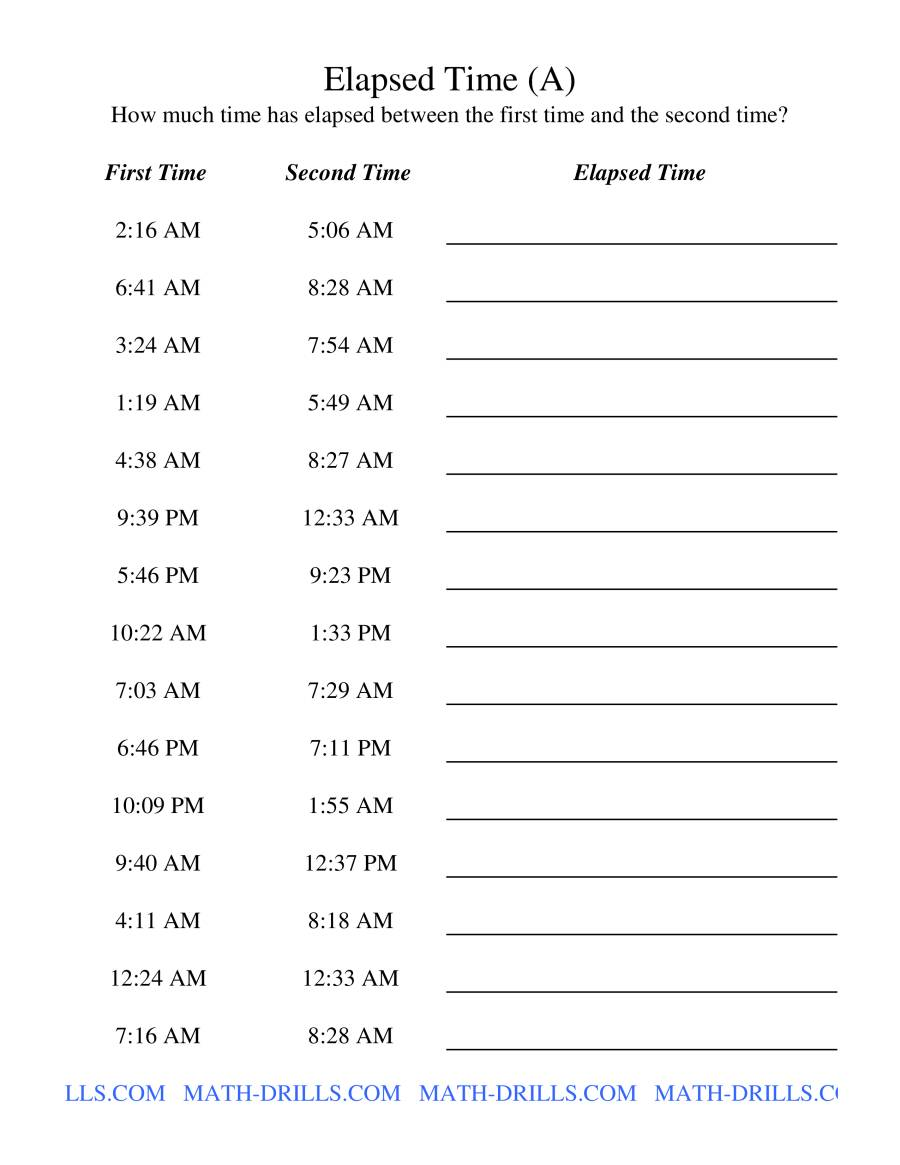 math worksheet : elapsed time  one minute intervals a measurement worksheet : One Minute Math Worksheets