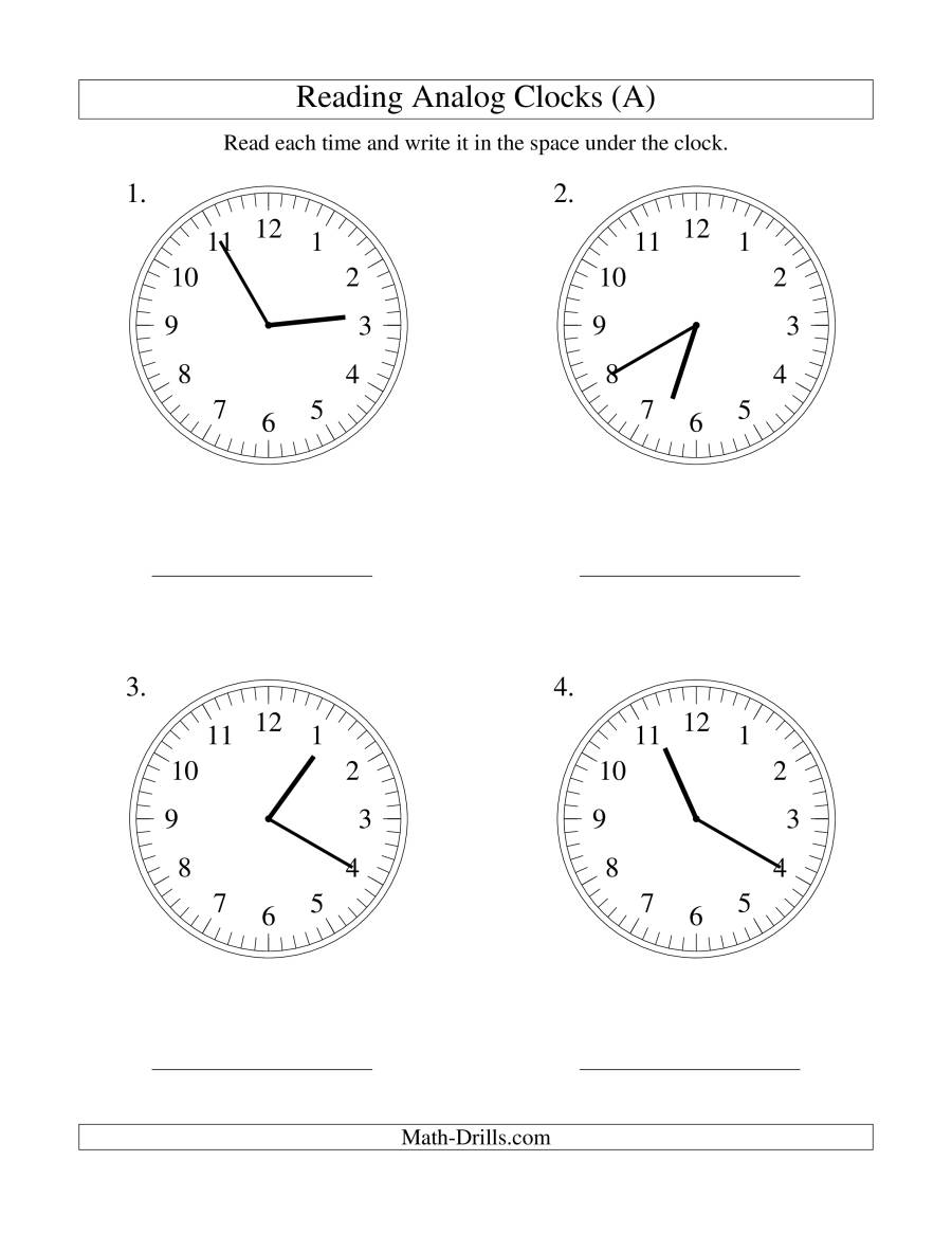 Reading Time On An Analog Clock In 5 Minute Intervals Lp