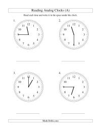 reading time on an analog clock in 15 minute intervals large print measurement worksheet. Black Bedroom Furniture Sets. Home Design Ideas