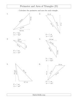calculating the perimeter and area of obtuse triangles rotated triangles d measurement worksheet. Black Bedroom Furniture Sets. Home Design Ideas