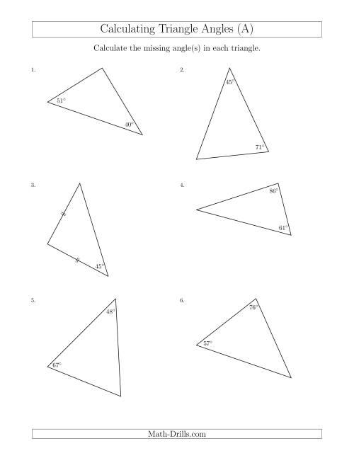 Calculating angles worksheets ks3