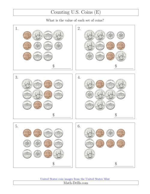 counting u s coins e. Black Bedroom Furniture Sets. Home Design Ideas