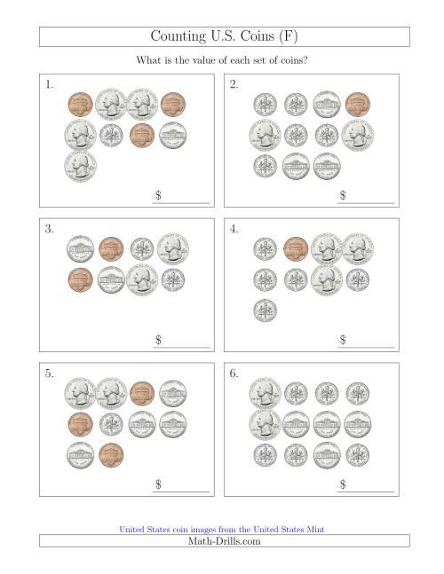 counting u s coins f. Black Bedroom Furniture Sets. Home Design Ideas