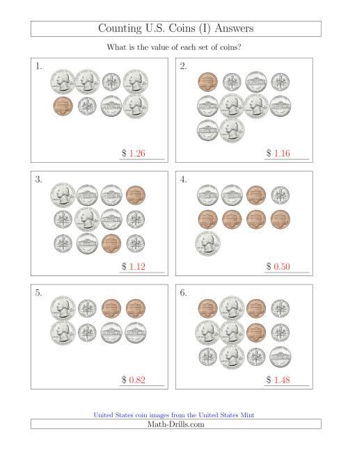 counting u s coins i. Black Bedroom Furniture Sets. Home Design Ideas