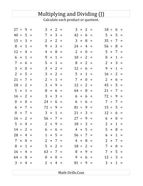 Multiplication Worksheets 0 2 Versaldobip – Multiplication Facts Worksheets 0-12