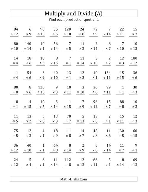 Multiplication And Division Worksheets Printable Free Worksheets – Printable Division Worksheets 3rd Grade