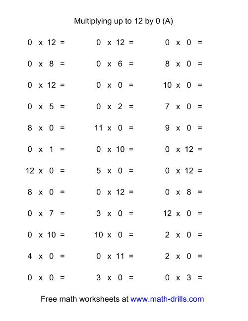 Multiplication Worksheet Creator Davezan – Math Fact Worksheet Creator