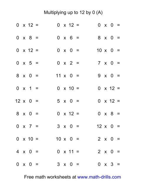 multiplication speed test worksheets basic math worksheet generatorstests and quizzes. Black Bedroom Furniture Sets. Home Design Ideas
