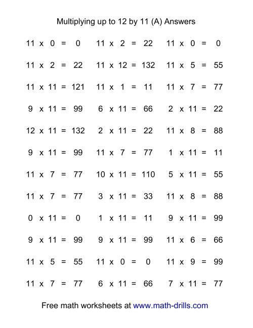 Worksheet Multiplication Flash Cards Printable 0 12 Wosenly Free ...