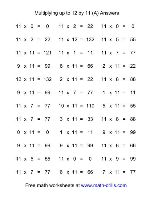 Worksheet Multiplication Flash Cards Printable 0 12 Wosenly Free ...