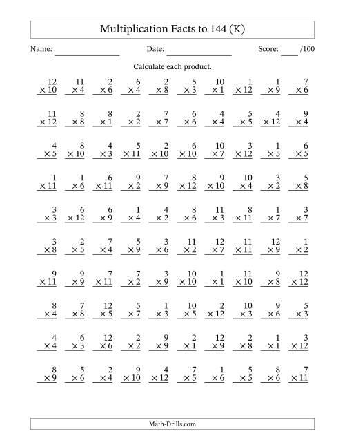 multiplication table worksheet Car Tuning