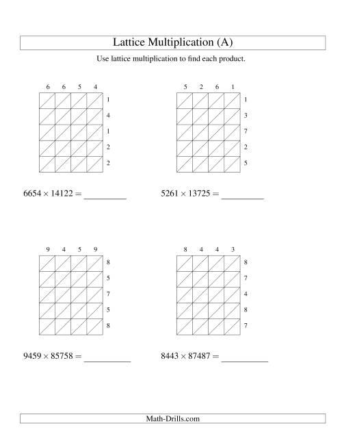 Teaching Grid Method Multiplication Lawteched – Grid Method Multiplication Worksheet