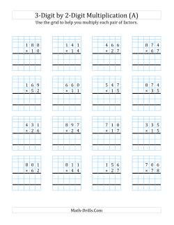 Long Multiplication Worksheets