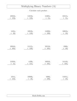 Long Multiplication Worksheets Multiplying In Other Base Systems