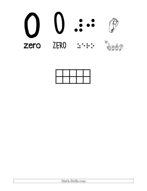The Number Recognition Posters with a Bird Theme (All) Math Worksheet